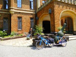 楽器運搬も自転車です。